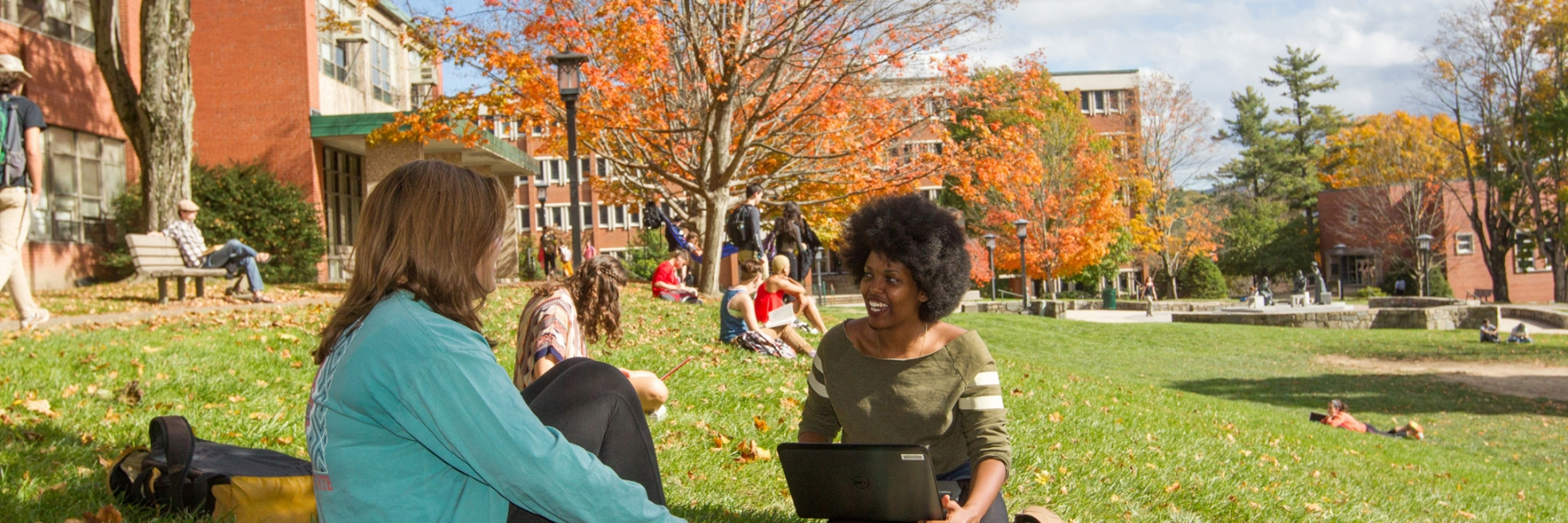 Image, Students, Fall on campus