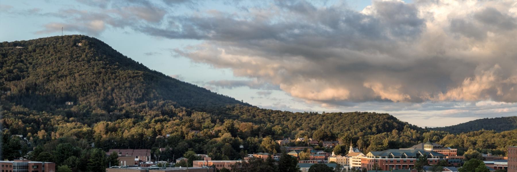 Image, Campus at Dusk 2