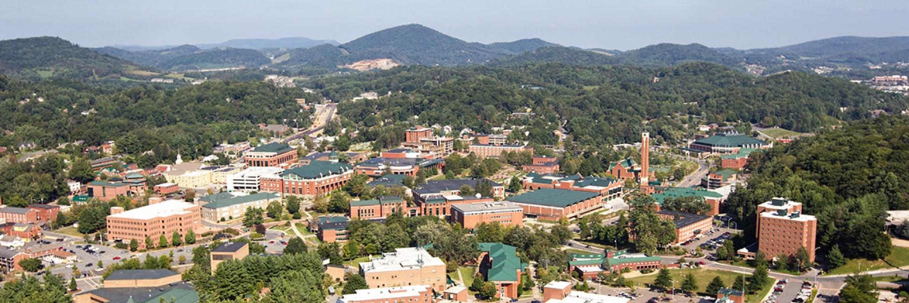 Aerial view of ASU Campus