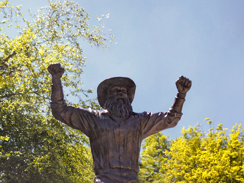 Yosef statue on Appalachian's campus